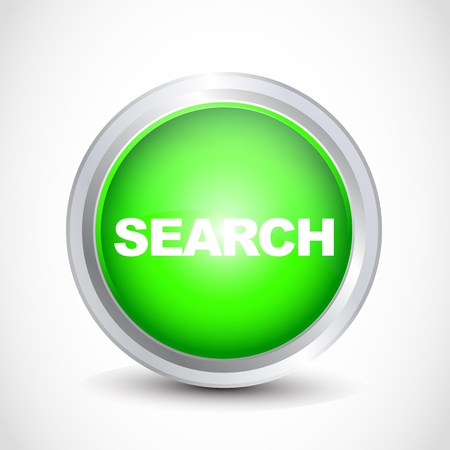icona: Search glossy button Illustration