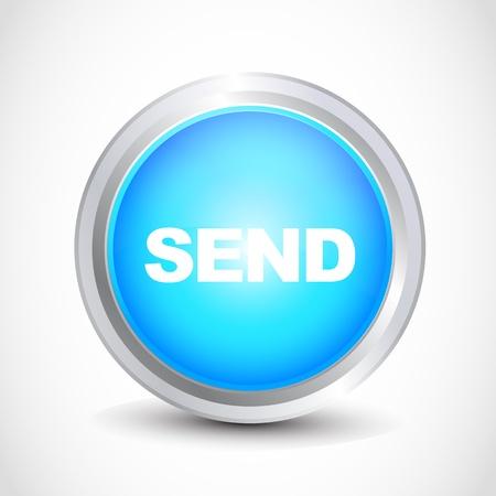 inbox icon: send button
