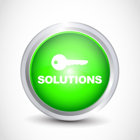 solutions button Stock Vector - 12840837
