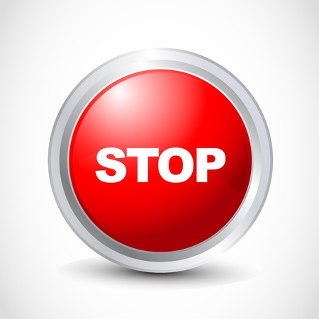 with stop sign: stop button Illustration