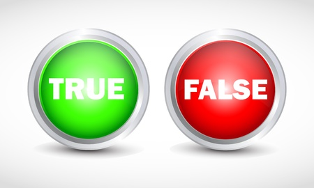 True False button Stock Vector - 12840833