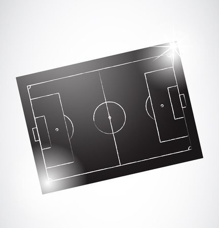 Abstract Soccer Tactics Board Stock Vector - 12946444