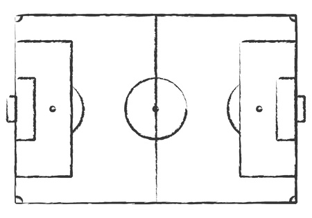 soccer pitch: Hand Drawn Grunge Soccer Field