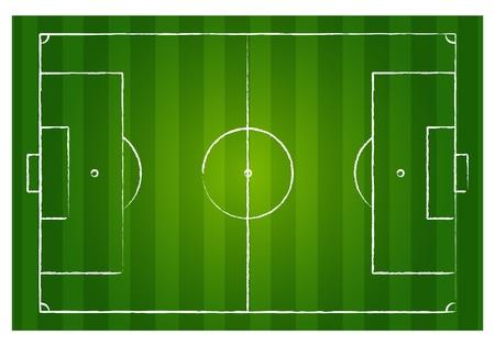 cancha deportiva futbol: Campo de fútbol Vectores