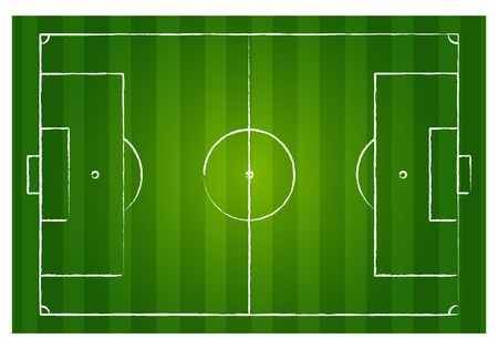 Soccer field Stock Vector - 12946395