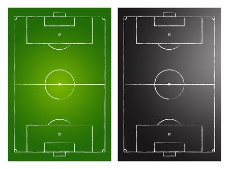 football pitch: Soccer Fields Illustration