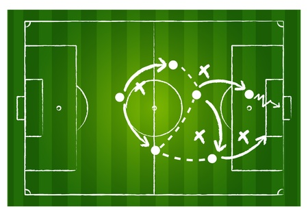 Soccer game strategy Vector