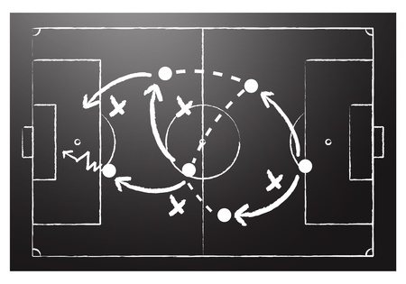 Soccer formation tactics Vector