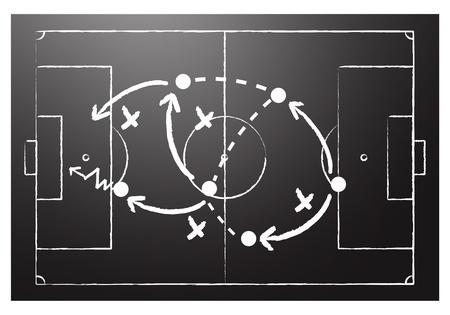 jugadores de futbol: T�cticas de f�tbol de formaci�n Vectores