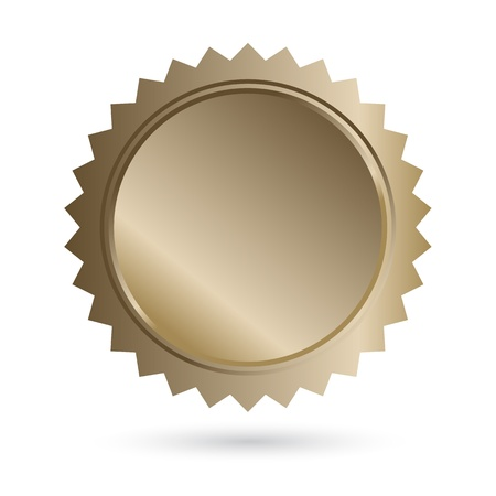 Blank Bronze Guarantee Label Vector