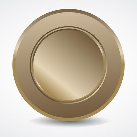 Blank Bronze Seal Stock Vector - 13029056