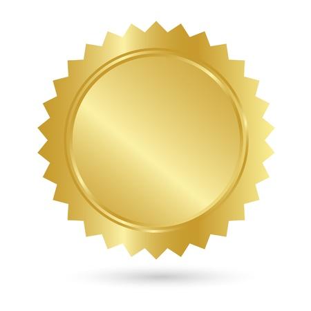 Blank Goldenen Gütezeichen Vektorgrafik