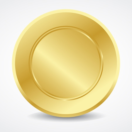 Empty golden seal Vector