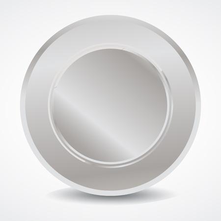 Blank silver seal Stock Vector - 13029057