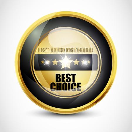 Best choice button photo