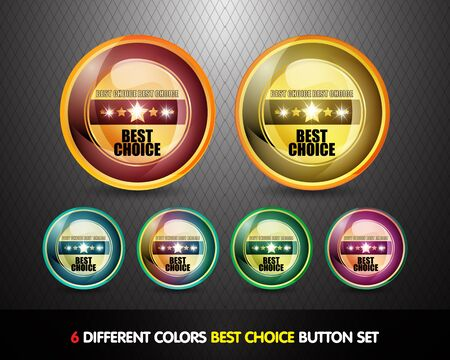 Colorful Best choice button set photo