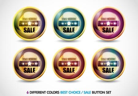 Colorful Best choice sale button set photo