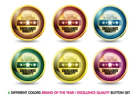 Colorful Brand of the year   Excellence Quality   button set photo