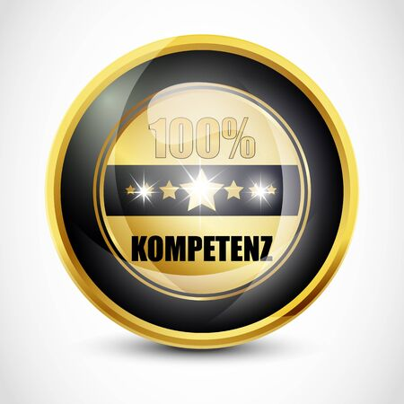 ending of service: 100  Kompetenz Button