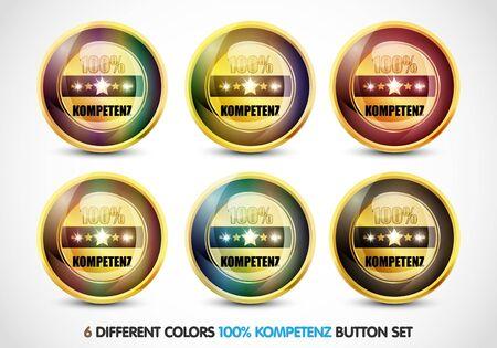 ending of service: Colorful 100  Kompetenz Button Set