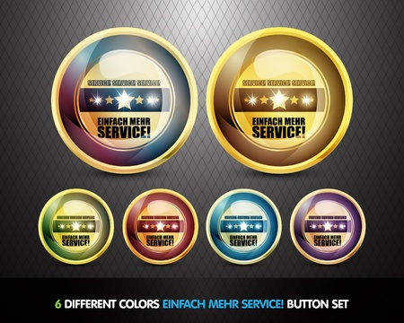 Colorful Einfach Mehr Service Button Set Stock Photo - 13029036