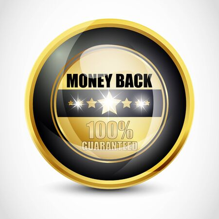 100  Guaranteed Money Back Button Stock Photo - 13028854