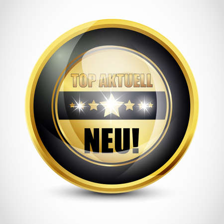 Top Aktuell  Neu  Button Stock Photo - 13028801