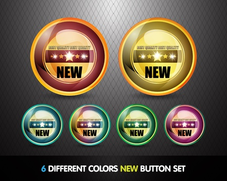 newcomer: Colorful  New  Button Set