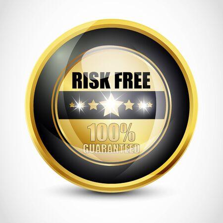 Risk Free Guaranteed Button Stock Photo - 13028846