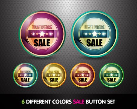 Colorful Sale  Best Price  Button Set Stock Photo - 13029030