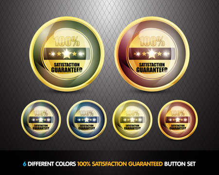 Colorful 100  Satisfaction Guarantee Button Set photo