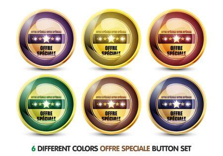 Colorful Offre Speciale button Set photo
