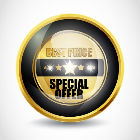 chariot: Special Offer  Best Price  Button Stock Photo