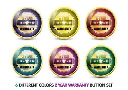 Colorful Two Year Warranty Button Set photo
