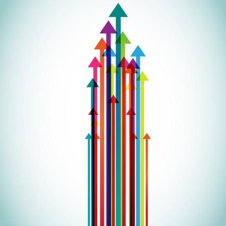 curve arrow: abstract vector colorful arrows
