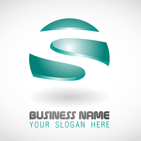 rounded circular: 3d Business logo design_5 Illustration