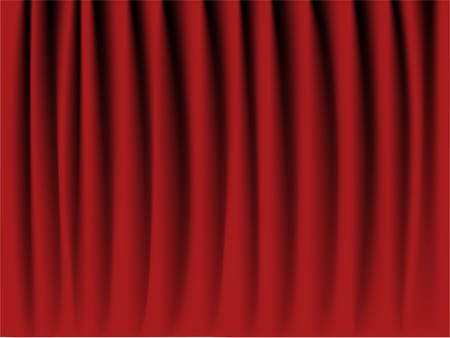 portiere: Realistic Red velvet curtain