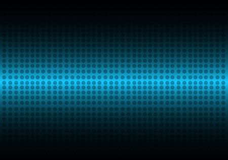 circular wave: Abstract dots blue vector background