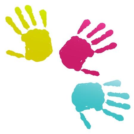 Empreintes de mains Banque d'images - 13175809