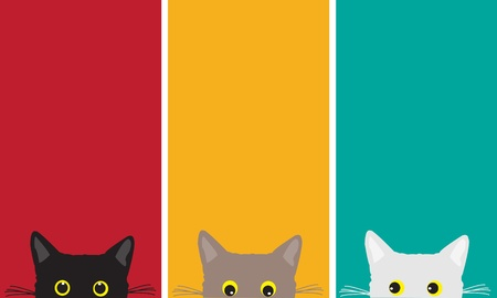 A lot of cats Stock Vector - 13175868