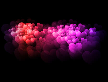 Abstract colorful hearts Stock Photo - 13272128
