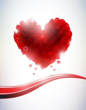 abstract hearts background Stock Photo - 13272142