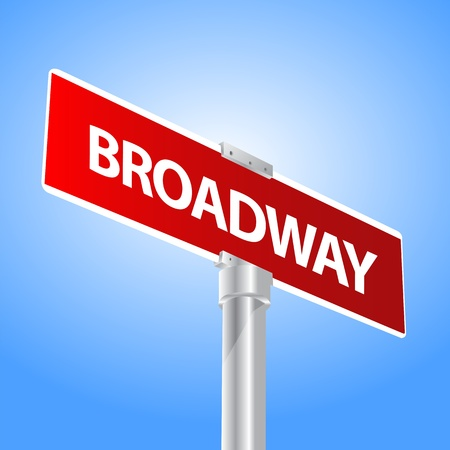 Broadway sign Stock Vector - 13447711