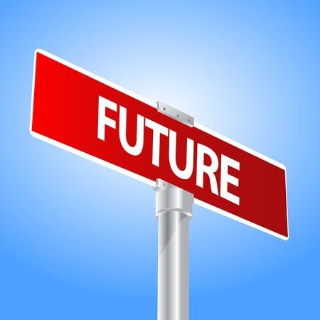 Future sign Stock Vector - 13447707