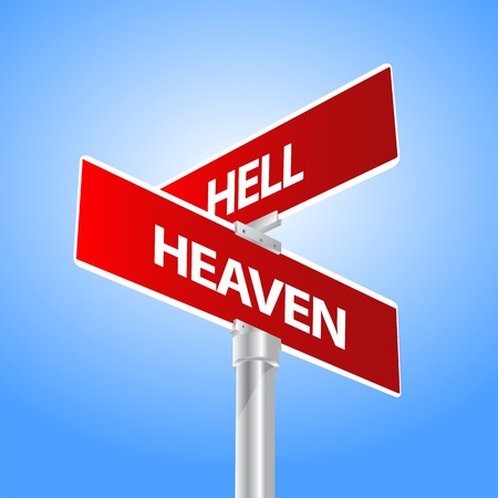 Heaven Hell Sign Vector
