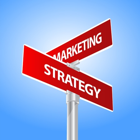 Marketing business, strategy sign Vector