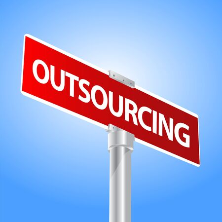 Outsourcing sign Stock Vector - 13447754