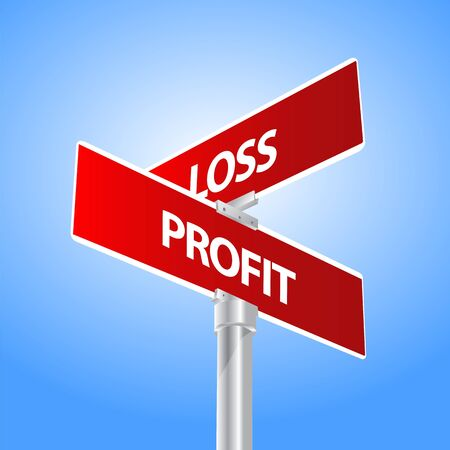 perdidas y ganancias: lucro signo pérdida