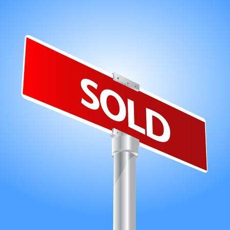 sold: Sold sign Illustration