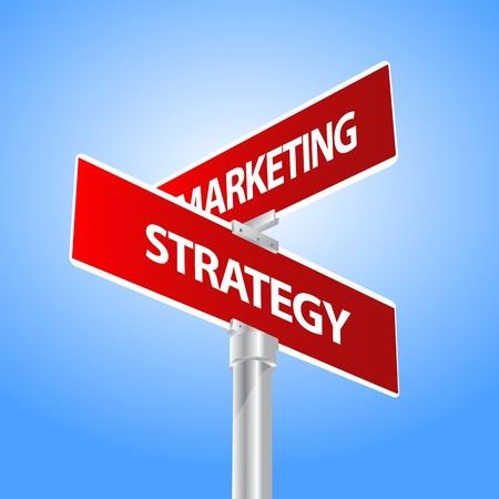 intentie: Marketing bedrijf, strategie teken Stock Illustratie